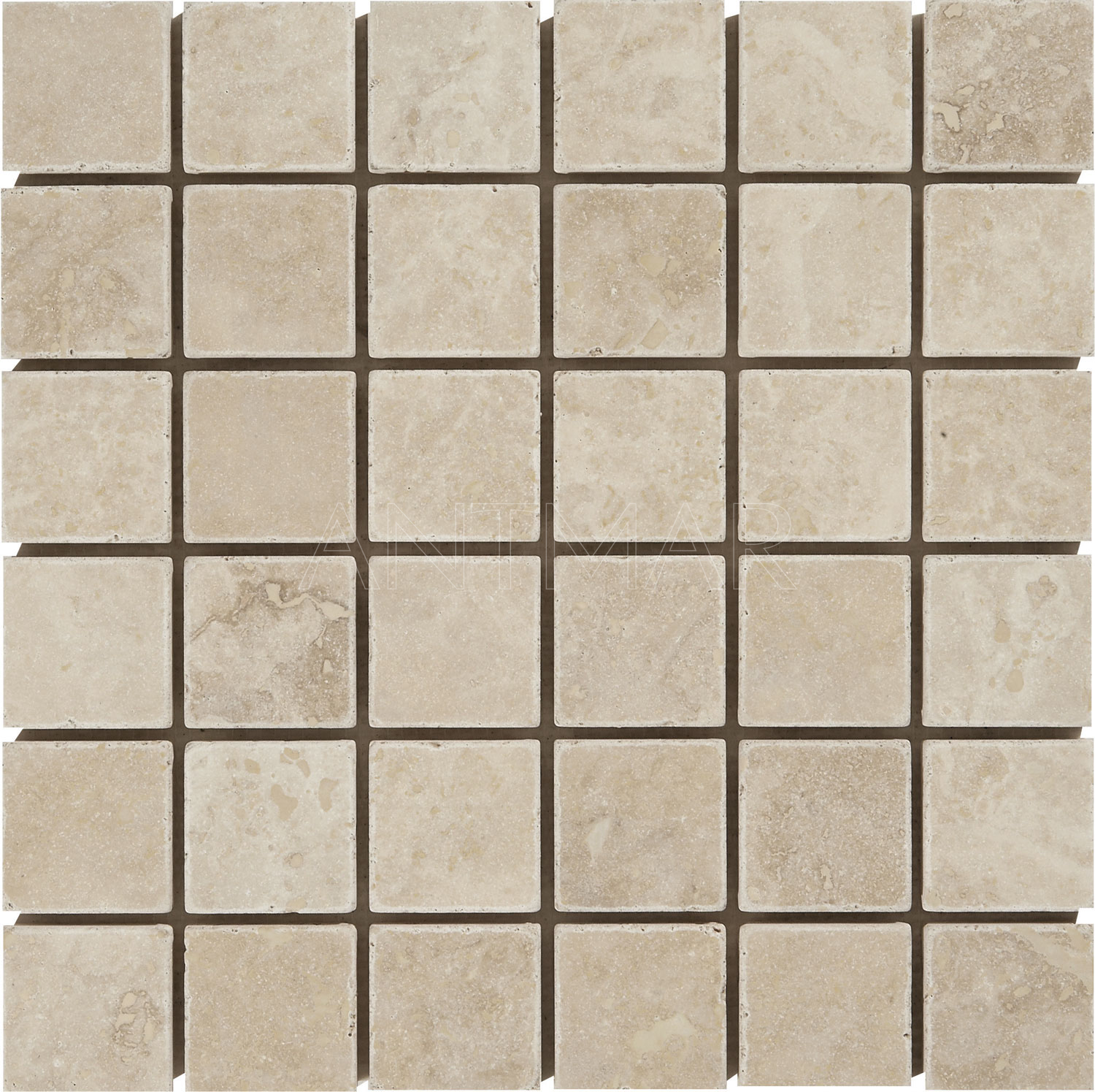 Travertin 4.8×4.8×1 Mosaique Vieilli